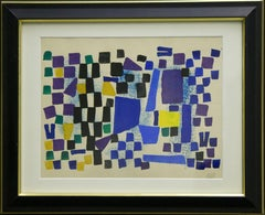 (Title Unknown)-Gouache on Paper, Signed by the Artist