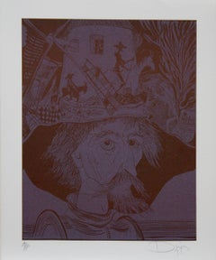 Don Quixote-Limited Edition Lithograph, Signed and Numbered by Artist