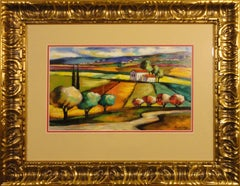 Valley Overlook-Framed Limited Edition Serigraph, Signed by Artist