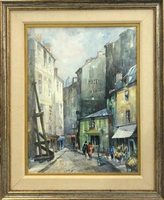 N'e a' Paris-Framed Watercolor. Signed by Artist