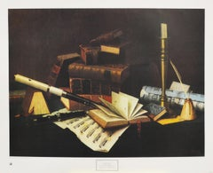 """Music and Literature"" Poster.  Copyright 1977 New York Graphic Society Ltd."