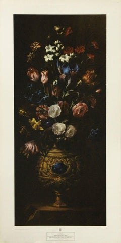 Roses with Blue Iris-Poster. New York Graphic Society, Ltd. Printed in Holland