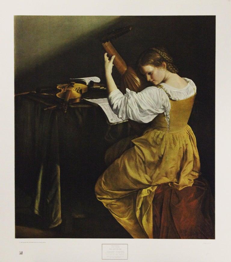 Orazio Gentileschi Portrait Print - The Lute Player-Poster. New York Graphic Society Ltd.