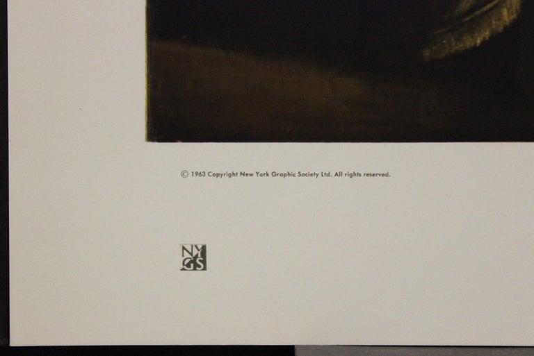 The Lute Player-Poster. New York Graphic Society Ltd.  - Black Portrait Print by Orazio Gentileschi