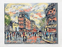 (Title Unknown) Street Scene. Limited Edition Serigraph. Signed by Artist.