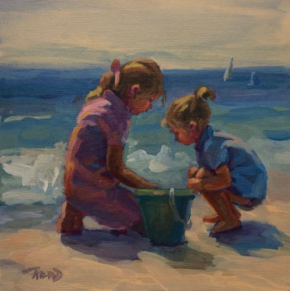 Girl Play-Limited Edition Giclée on Unstretched Canvas