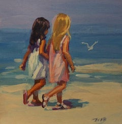 Beach Stroll-Limited Edition Giclée on Unstretched Canvas
