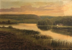 (Title Unknown) Landscape Painting, Signed and Dated by the Artist