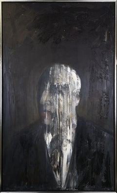 Untitled: Man. Framed Oil on Canvas