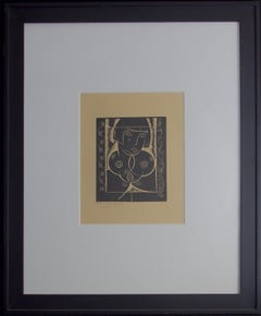 Asia-Framed Woodblock Print. Signed and Dated by the Artist