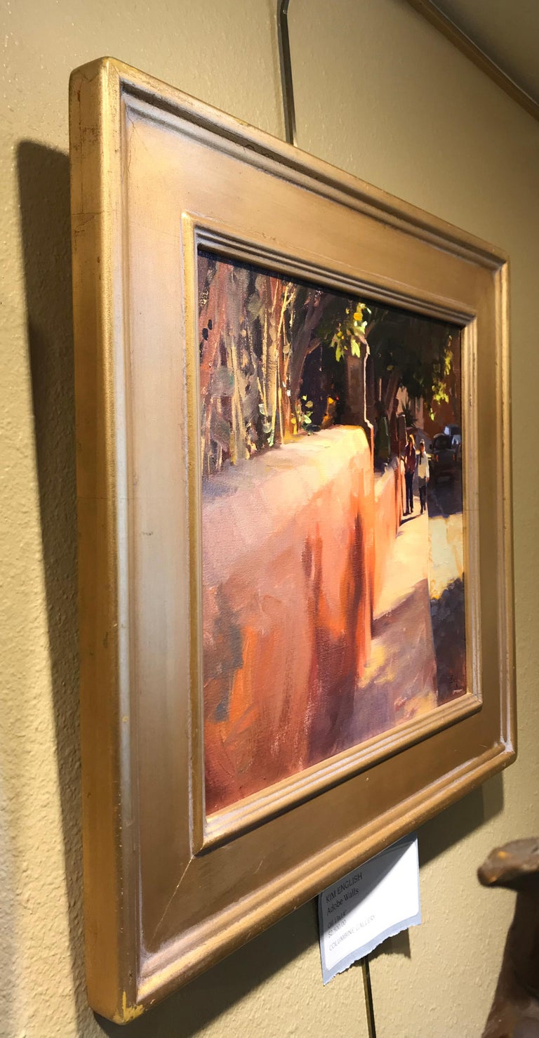 Adobe Walls - Brown Landscape Painting by Kim English