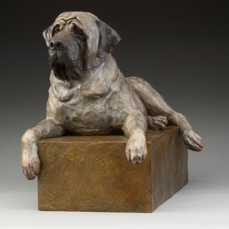 Daniel Glanz Still-Life Sculpture - Mastiff
