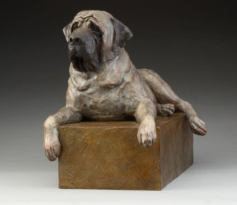 Mastiff - Gold Still-Life Sculpture by Daniel Glanz
