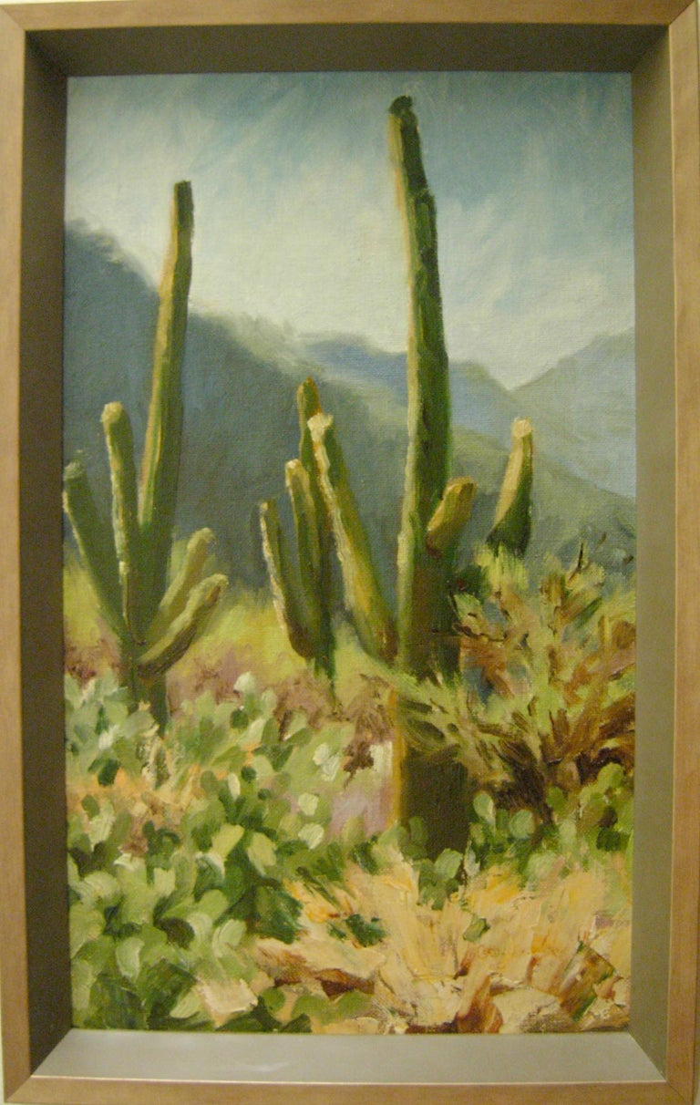 Desert Greys - Painting by Cathy Goodale