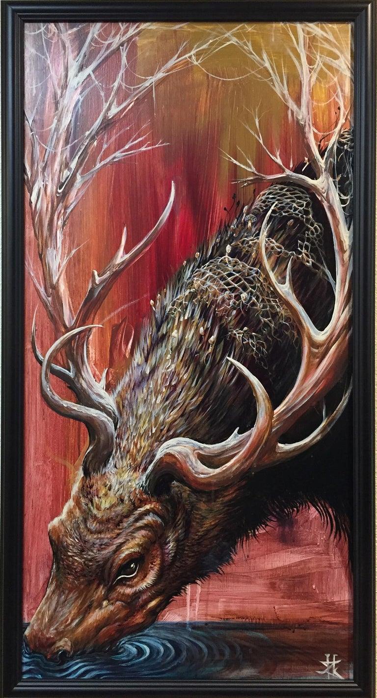 Zach Howard Animal Painting - Fire Starter