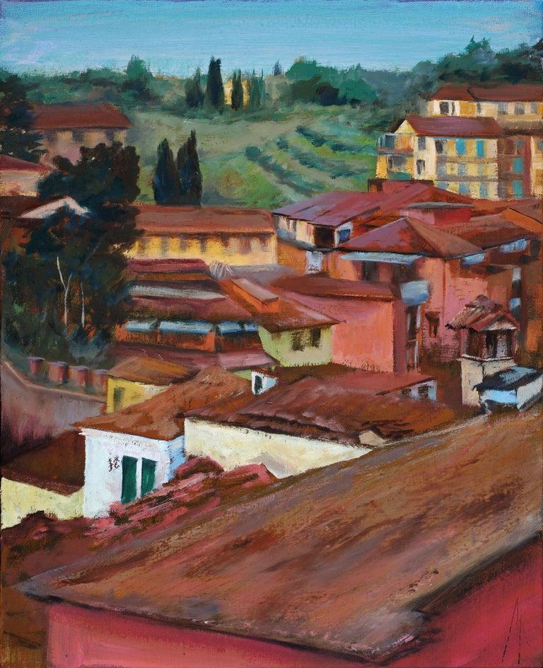 Alyson Kinkade Landscape Painting - Siena Spring Study No.1