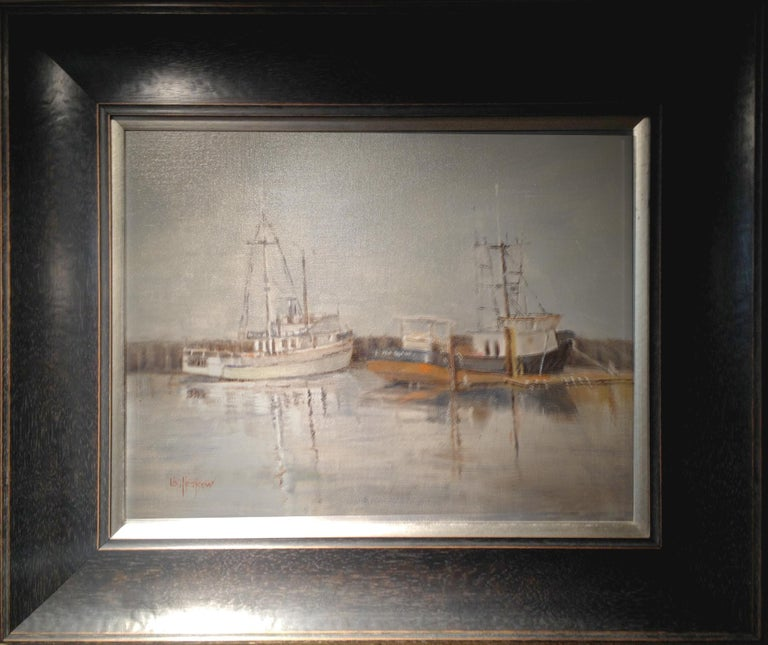 Grey Day on the Bay - Painting by Lu Haskew