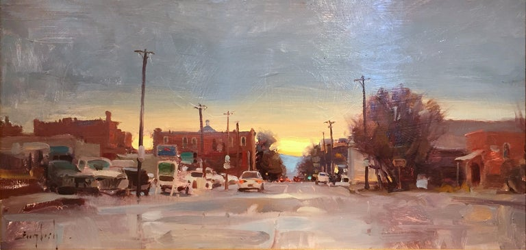 Before The Foundry - American Impressionist Painting by Kim English