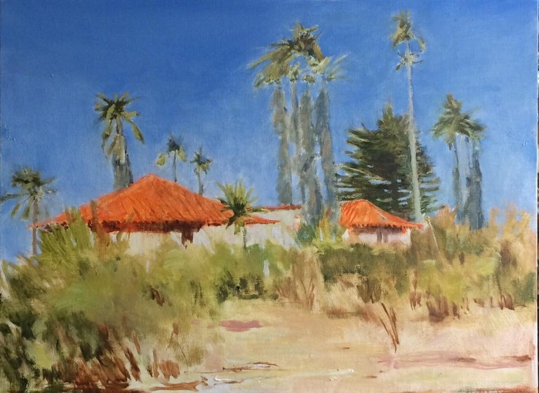 Palms and Tile Roofs - Painting by James Biggers