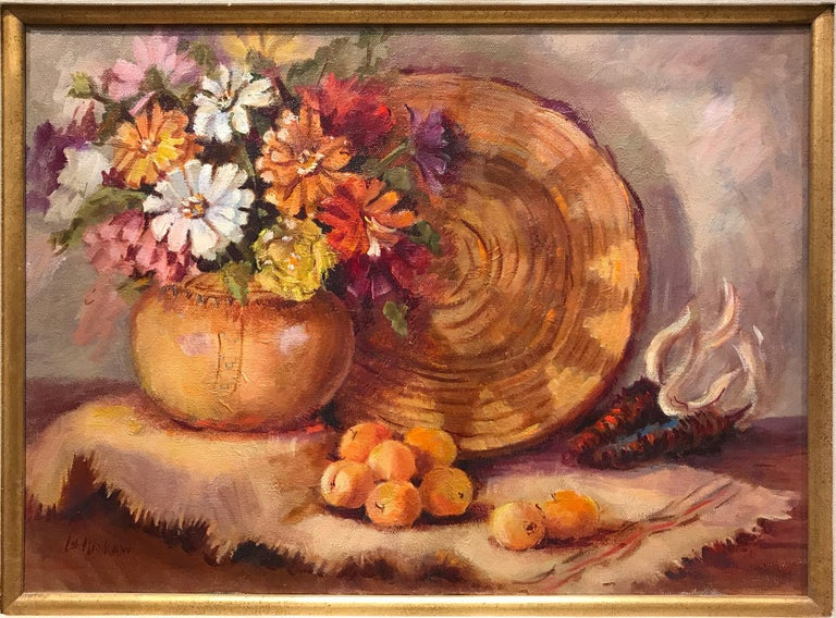 Native Beauty by Lu Haskew Still Life Oil painting 12x16
