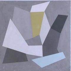 Habitat Fragmentation I, 2020, Abstract geometry, non-objective, plaster, gray