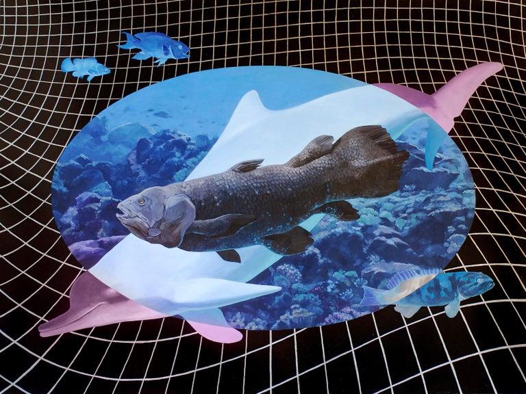 Alexis Kandra Animal Painting - Living Fossils, oil painting & acrylic on panel, figurative, sea animals