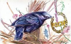Rich, 2018, bower bird, nature, animal, pattern, drawing, bamboo earring