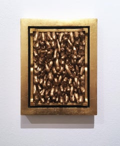All Kinds, 2018, Gold leaf, wall sculpture, anatomy, frame