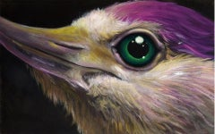 Purple Bird With Green Eye, 2018
