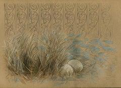 Bundle, 2015, bower bird, nature, animal, pattern, drawing, framed
