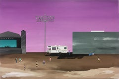 Texas Whatever, 2018 landscape, desert, rv, camper, concert, bandshell, pink