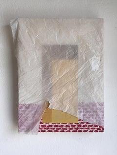 """Door #36"" pastel, oil, acrylic, plastic on wood,Francesca Reyes, 2019"