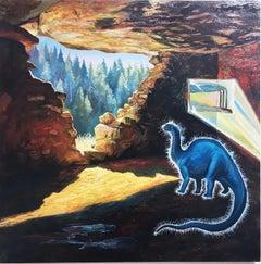 Fossil Fuel, surrealist, landscape, oil on linen, 2015
