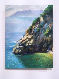 Cornelia, plein air figurative, landscape, seascape, oil on panel, 2016