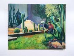 Mexico City 1, plein air figurative, landscape, oil on panel, 2018