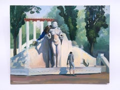 Mexico City 2, plein air figurative, landscape, oil on panel, 2018