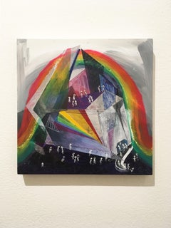 The Museum of Amusement and Rainbow Light, acrylic, watercolor and ink on panel
