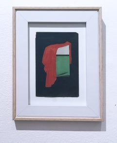 Over and Under, Collage on found paper, framed