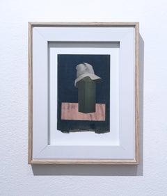 Gilligan, Collage on found paper, framed