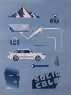 Vermont Part 2, 2018, BMW, crowbar, cameras, ski mask, atm, blue, mountain, bag
