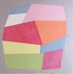 Dolce Vita II, 2019, Abstract geometry, non-objective, rainbow, acrylic, plaster