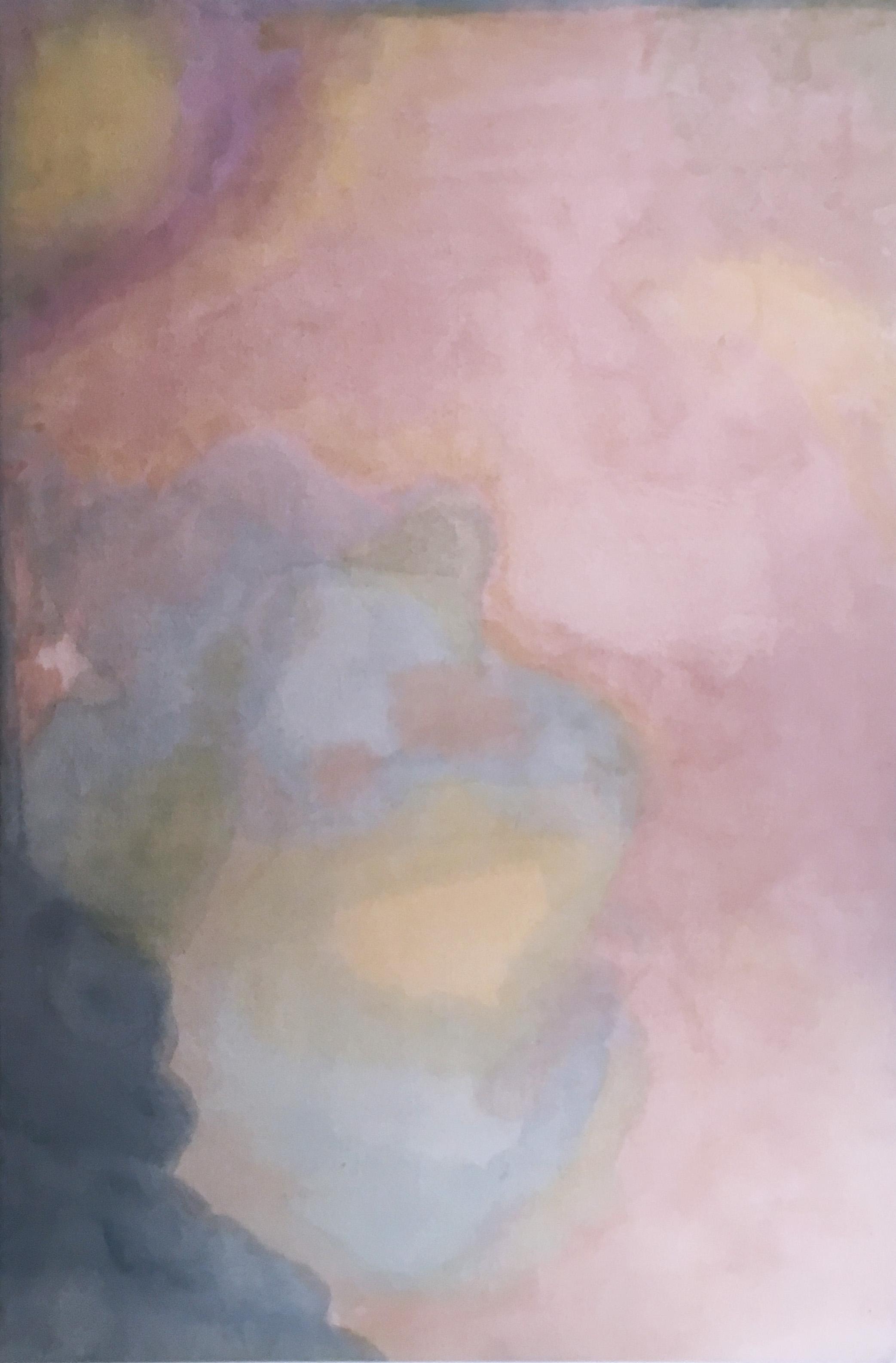 Paisagem do Ventre (Wombly Landscape) natural hand-dyed canvas, avocado, tumeric
