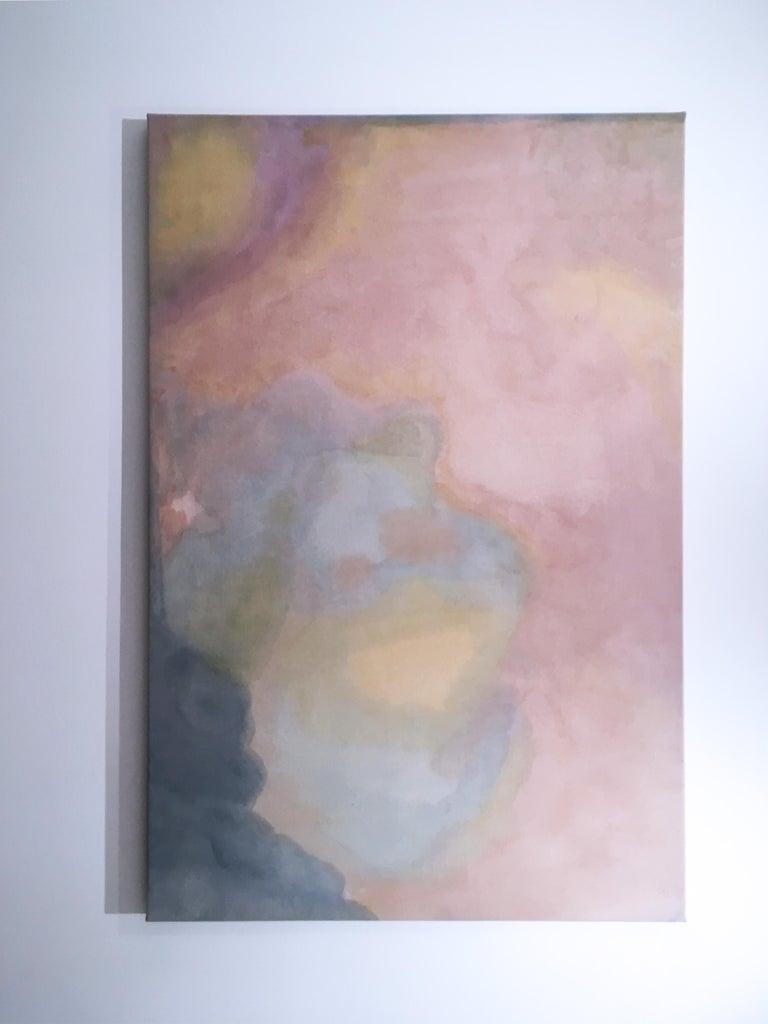 Paisagem do Ventre (Wombly Landscape) natural hand-dyed canvas, avocado, tumeric For Sale 4