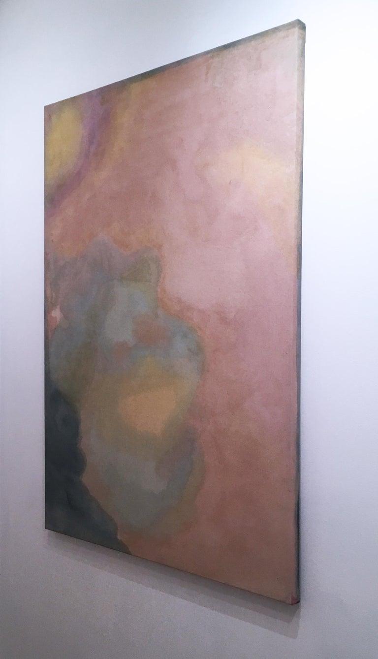 Paisagem do Ventre (Wombly Landscape) natural hand-dyed canvas, avocado, tumeric For Sale 3