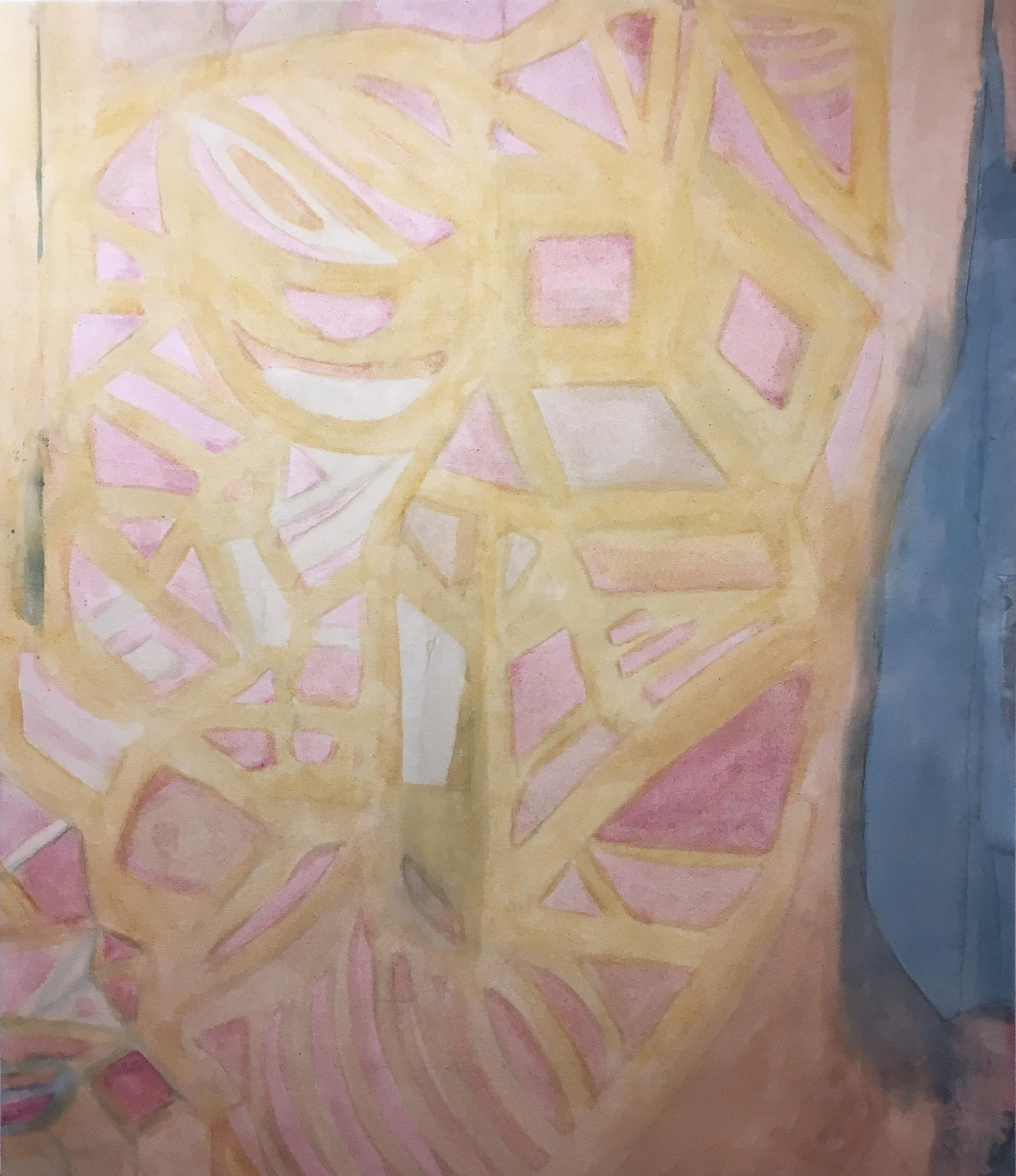 Coração Aberto (Heart Opened), 2020, natural hand-dyed canvas, avocado, tumeric