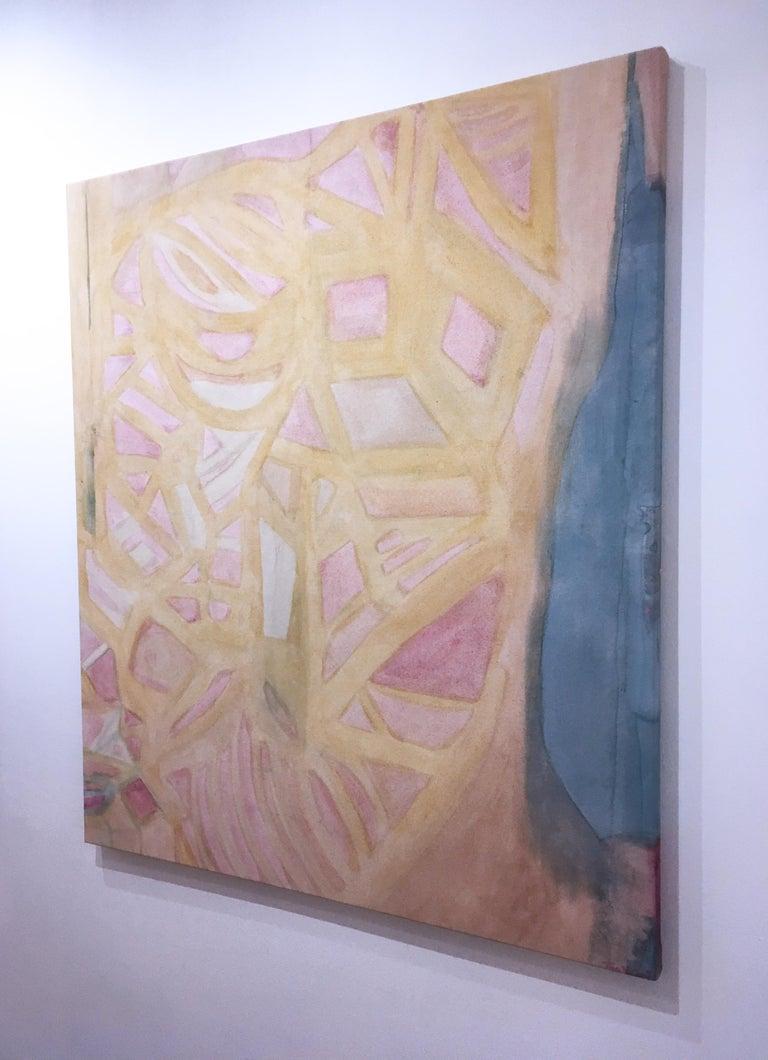 Coração Aberto (Heart Opened), 2020, natural hand-dyed canvas, avocado, tumeric For Sale 2