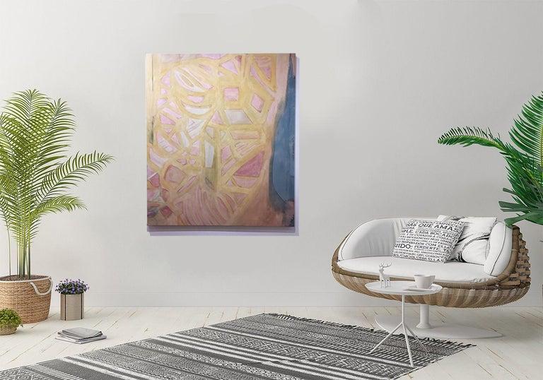 Coração Aberto (Heart Opened), 2020, natural hand-dyed canvas, avocado, tumeric For Sale 3