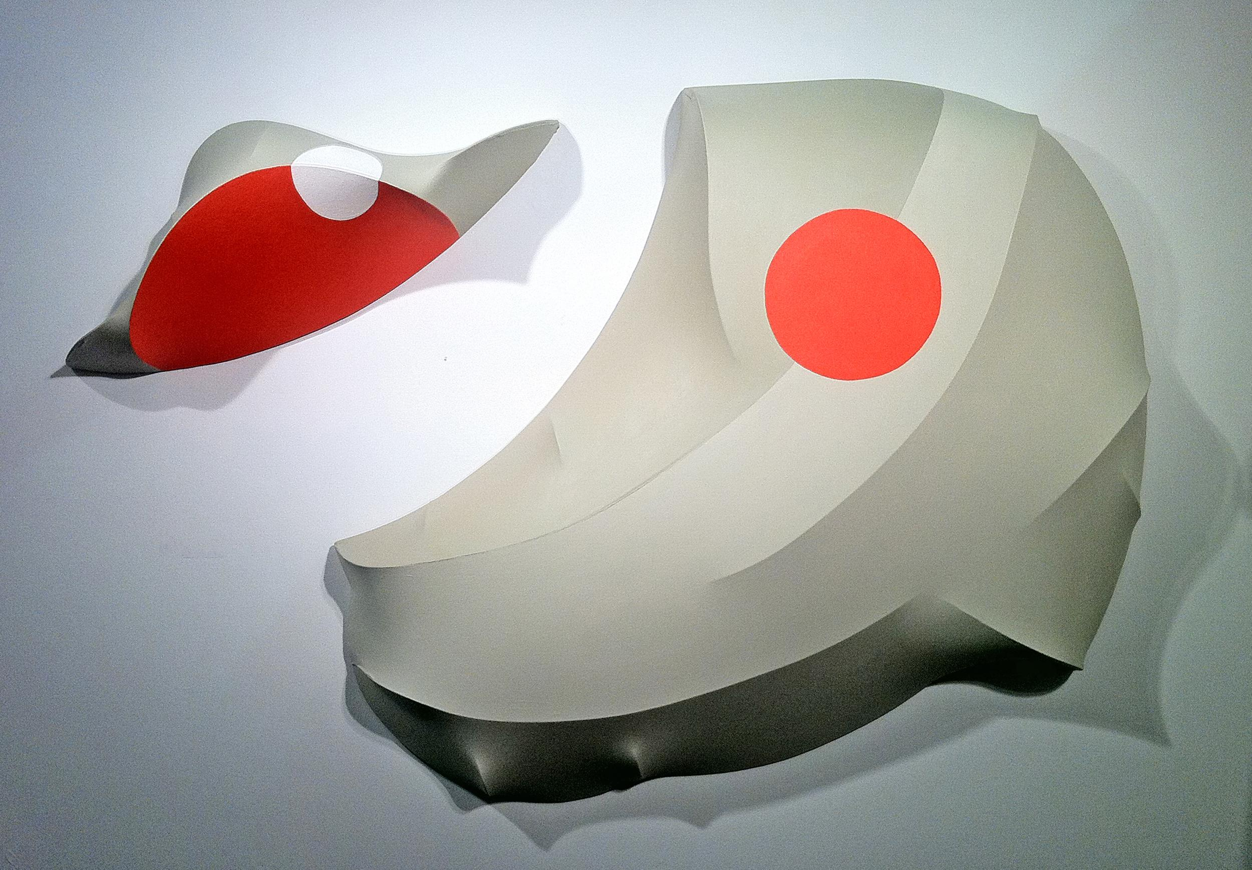 Number 26, Vertebrate Companion Series, 2012, acrylic on canvas, wall sculpture