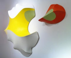 Number 28, Vertebrate Companion Series, 2012, acrylic on canvas, wall sculpture