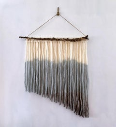By the Shore, 2020, hand dyed Alpaca wool, wire, jute decorative wall hanging
